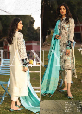 Lakhany Embroidered Lawn Unstitched 3 Piece Suit LSM20H 17 - Spring / Summer Collection