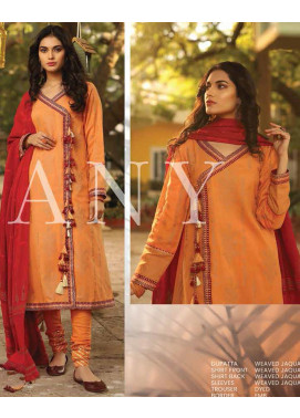 Lakhany Embroidered Jacquard Unstitched 3 Piece Suit LSM20H 25 - Spring / Summer Collection