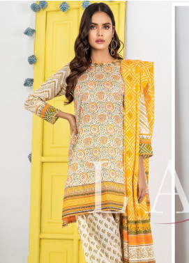 Lakhany Printed Lawn Unstitched 3 Piece Suit LSM20L KP-2021 - Spring / Summer Collection