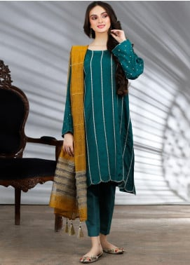 Lakhany Embroidered Raw Silk Stitched 3 Piece Suit LSM20PL LSM-1959