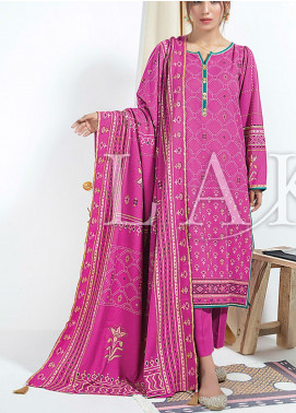 Cashmere Gold by Lakhany Printed Cashmere Wool Unstitched 3 Piece Suit LSM20CG 2076 - Winter Collection