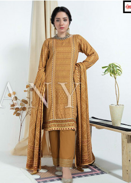 Cashmere Gold by Lakhany Printed Cashmere Wool Unstitched 3 Piece Suit LSM20CG 2077 - Winter Collection