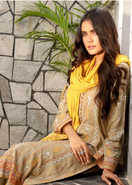 Lakhany Embroidered Peach Unstitched 3 Piece Suit LSM20WE 2043 - Winter Collection