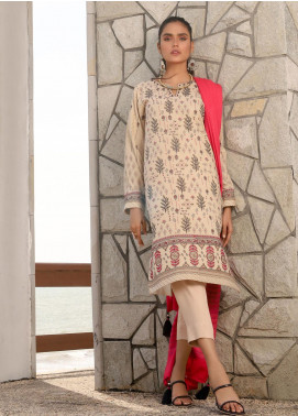 Lakhany Embroidered Peach Unstitched 3 Piece Suit LSM20WE 2045 - Winter Collection