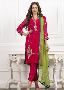 Lakhany Embroidered Chiffon Stitched 2 Piece Suit LSM20CH LSM-1824
