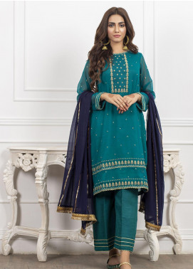 Lakhany Embroidered Chiffon Stitched 3 Piece Suit LSM20CH LSM-1870