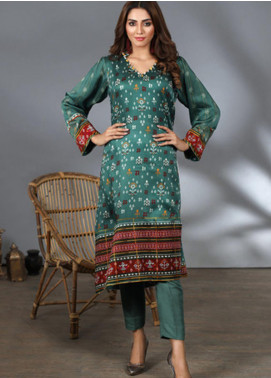 Lakhany Printed Silk Stitched Kurtis LSM21PS LSM-2056