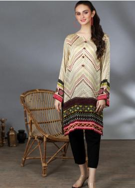 Lakhany Printed Silk Stitched Kurtis LSM21PS LSM-2058