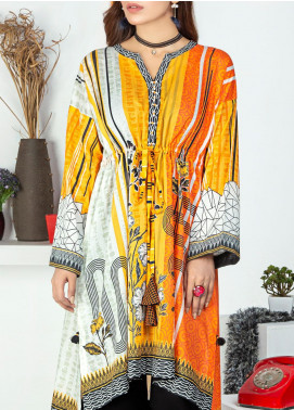 Lakhany Printed Lawn Unstitched Kurties LSM20PE 2057 - Summer Collection