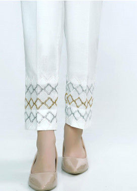Lakhany Embroidered Cambric Stitched Trousers LSM20ET LSM-42