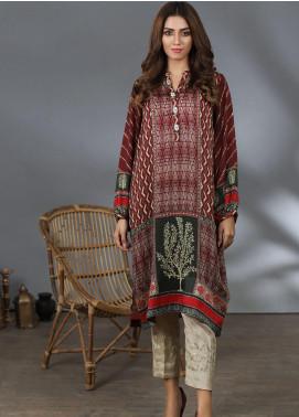 Lakhany Printed Silk Stitched Kurtis LSM21PS LSM-2055