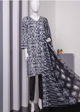 Lamha by Tarzz Printed Lawn Unstitched 2 Piece Suit TZ20BW L20-BW2-05 - Spring / Summer Collection