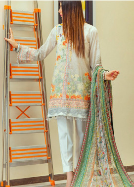 Lamha by Tarzz Embroidered Lawn Unstitched 3 Piece Suit TRZ20L L20-F1-01 - Spring / Summer Collection