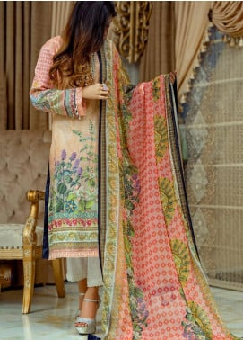 Lamha by Tarzz Embroidered Lawn Unstitched 3 Piece Suit TRZ20L L20-F1-03 - Spring / Summer Collection