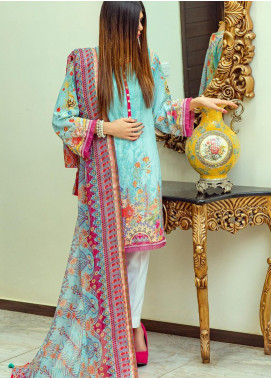 Lamha by Tarzz Embroidered Lawn Unstitched 3 Piece Suit TRZ20L L20-F1-05 - Spring / Summer Collection