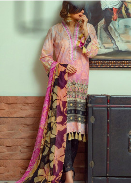 Lamha by Tarzz Embroidered Lawn Unstitched 3 Piece Suit TRZ20L L20-F1-07 - Spring / Summer Collection