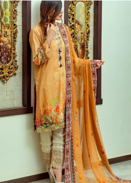 Lamha by Tarzz Embroidered Lawn Unstitched 3 Piece Suit TRZ20L L20-F1-08 - Spring / Summer Collection