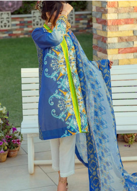 Lamha by Tarzz Embroidered Lawn Unstitched 3 Piece Suit TRZ20L L20-S2-53 - Spring / Summer Collection