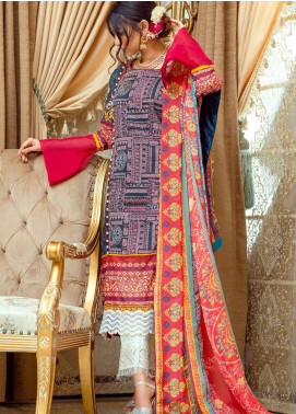 Lamha by Tarzz Embroidered Lawn Unstitched 3 Piece Suit TRZ20L L20-S2-54 - Spring / Summer Collection