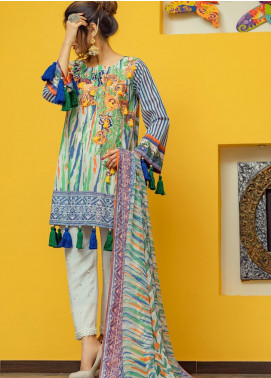 Lamha by Tarzz Embroidered Lawn Unstitched 3 Piece Suit TRZ20L L20-S2-56 - Spring / Summer Collection