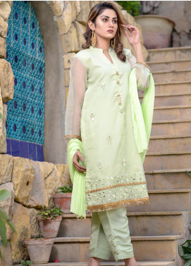Layla Luxe by Elaheh Embroidered Organza Unstitched 3 Piece Suit ELH20LY 05 - Luxury Collection