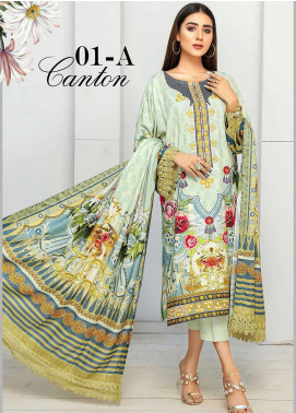 Libaas By Nawaz Fabrics Embroidered Linen Unstitched 3 Piece Suit NF20L 01A - Winter Collection