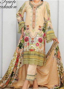 Libaas By Nawaz Fabrics Embroidered Linen Unstitched 3 Piece Suit NF20L 01B - Winter Collection