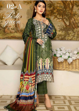 Libaas By Nawaz Fabrics Embroidered Linen Unstitched 3 Piece Suit NF20L 02A - Winter Collection