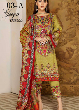 Libaas By Nawaz Fabrics Embroidered Linen Unstitched 3 Piece Suit NF20L 03A - Winter Collection