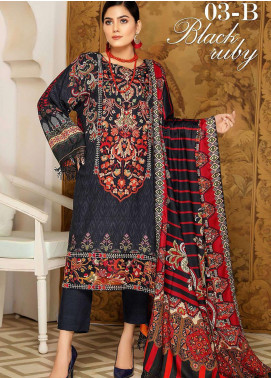 Libaas By Nawaz Fabrics Embroidered Linen Unstitched 3 Piece Suit NF20L 03B - Winter Collection