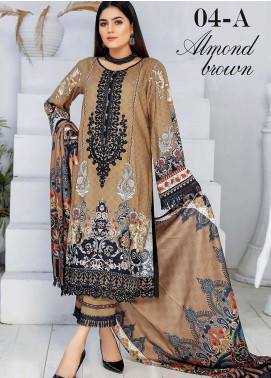Libaas By Nawaz Fabrics Embroidered Linen Unstitched 3 Piece Suit NF20L 04A - Winter Collection