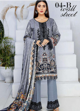 Libaas By Nawaz Fabrics Embroidered Linen Unstitched 3 Piece Suit NF20L 04B - Winter Collection