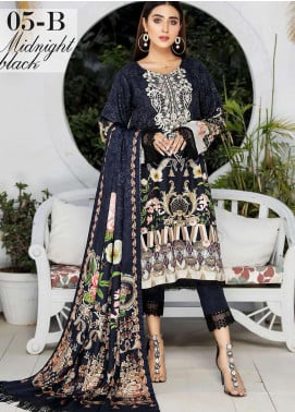 Libaas By Nawaz Fabrics Embroidered Linen Unstitched 3 Piece Suit NF20L 05B - Winter Collection