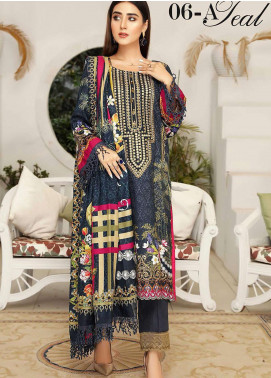 Libaas By Nawaz Fabrics Embroidered Linen Unstitched 3 Piece Suit NF20L 06A - Winter Collection