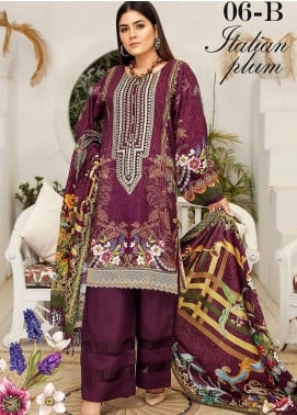 Libaas By Nawaz Fabrics Embroidered Linen Unstitched 3 Piece Suit NF20L 06B - Winter Collection