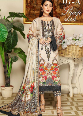 Libaas By Nawaz Fabrics Embroidered Linen Unstitched 3 Piece Suit NF20L 07A - Winter Collection