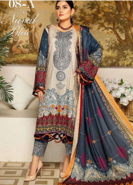 Libaas By Nawaz Fabrics Embroidered Linen Unstitched 3 Piece Suit NF20L 08A - Winter Collection