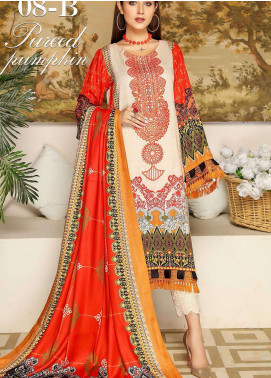 Libaas By Nawaz Fabrics Embroidered Linen Unstitched 3 Piece Suit NF20L 08B - Winter Collection