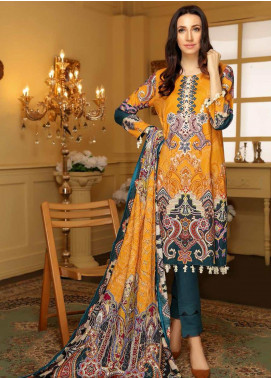 Libaas Embroidered Linen Unstitched 3 Piece Suit LB19W 1A - Winter Collection