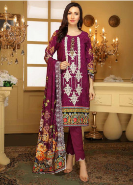 Libaas Embroidered Linen Unstitched 3 Piece Suit LB19W 2A - Winter Collection