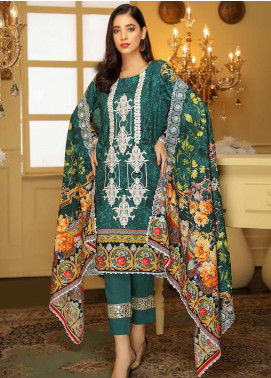 Libaas Embroidered Linen Unstitched 3 Piece Suit LB19W 2B - Winter Collection