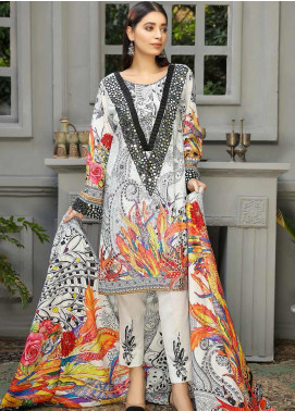 Libaas Embroidered Linen Unstitched 3 Piece Suit LB19W 3A - Winter Collection