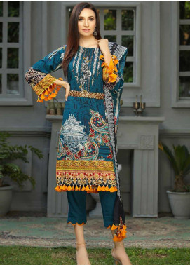 Libaas Embroidered Linen Unstitched 3 Piece Suit LB19W 4A - Winter Collection