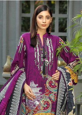 Libaas Embroidered Linen Unstitched 3 Piece Suit LB19W 4B - Winter Collection