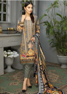 Libaas Embroidered Linen Unstitched 3 Piece Suit LB19W 5A - Winter Collection