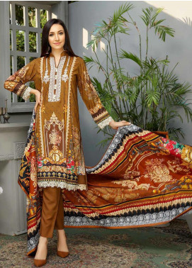 Libaas Embroidered Linen Unstitched 3 Piece Suit LB19W 5B - Winter Collection