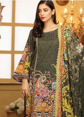 Libaas Embroidered Linen Unstitched 3 Piece Suit LB19W 6A - Winter Collection