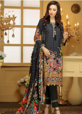 Libaas Embroidered Linen Unstitched 3 Piece Suit LB19W 6B - Winter Collection