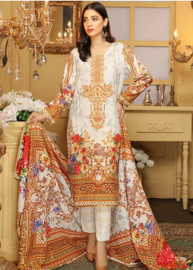 Libaas Embroidered Linen Unstitched 3 Piece Suit LB19W 7A - Winter Collection