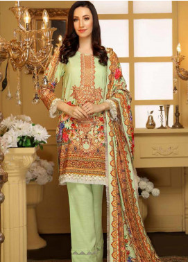 Libaas Embroidered Linen Unstitched 3 Piece Suit LB19W 7B - Winter Collection